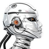 Fényképek kiborg stílusos fej