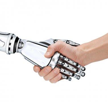 Male robot and human