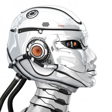 Stylish cyborg head