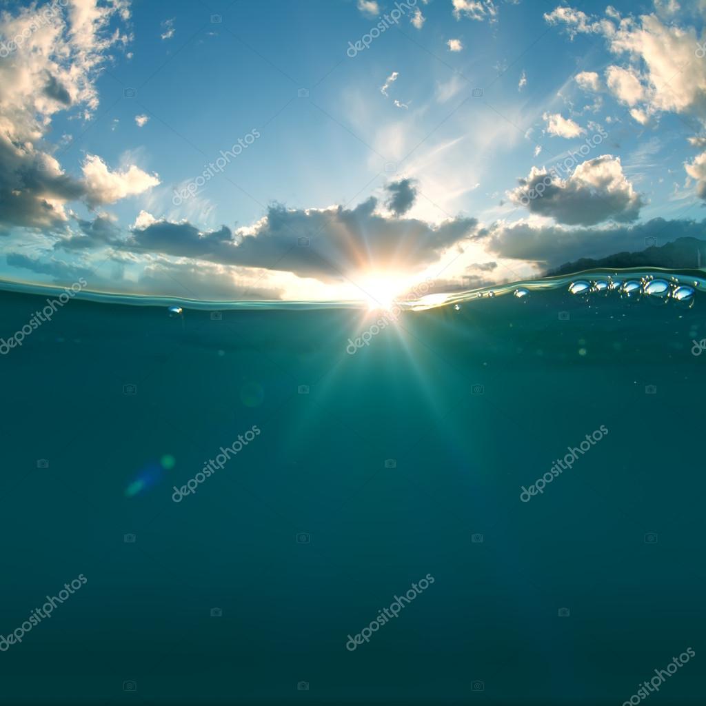 Underwater and sunlight