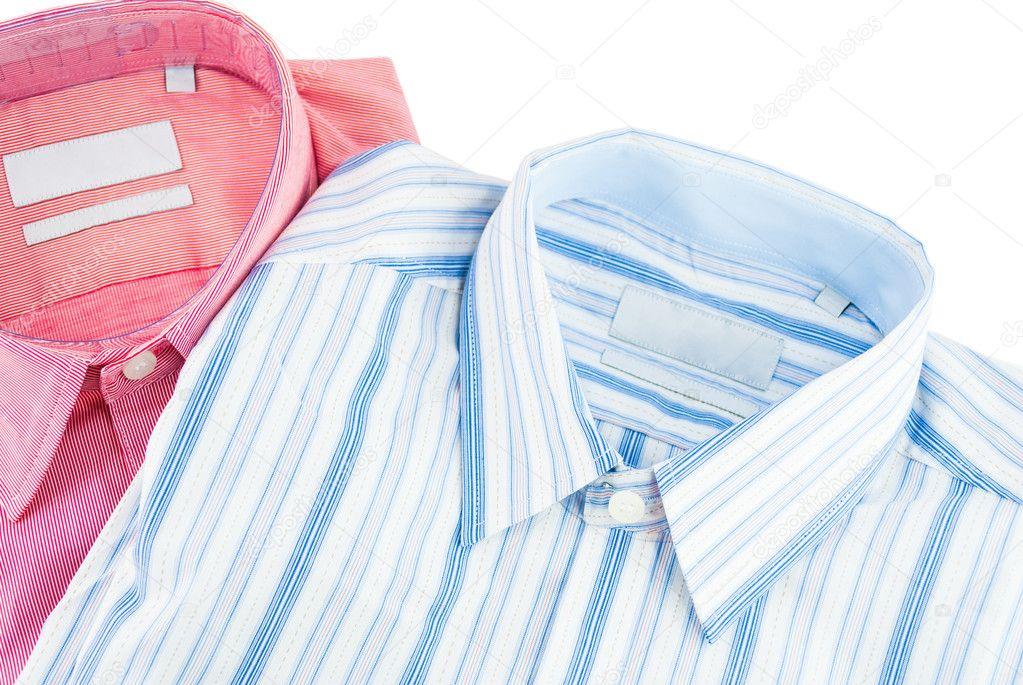 Ny skjorta - business tröja med en rad mönster - formell skjorta - skjorta  isolerad på 6c142e8b39d39