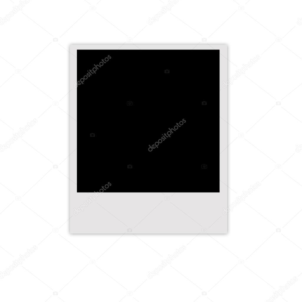 Polaroid photo frame isolated on white background — Stock Photo ...