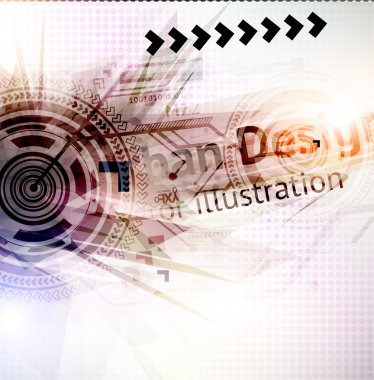 Abstract Techno Vector Background.