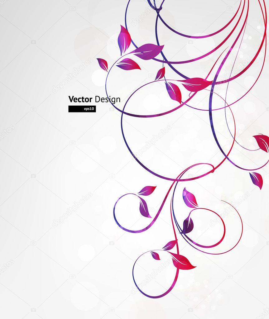Summer retro floral bright background for vintage design. Vector