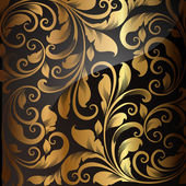 Photo Seamless wallpaper pattern gold, vector