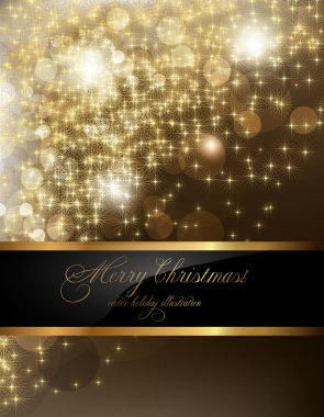 Elegant christmas background with place for new year text invitation