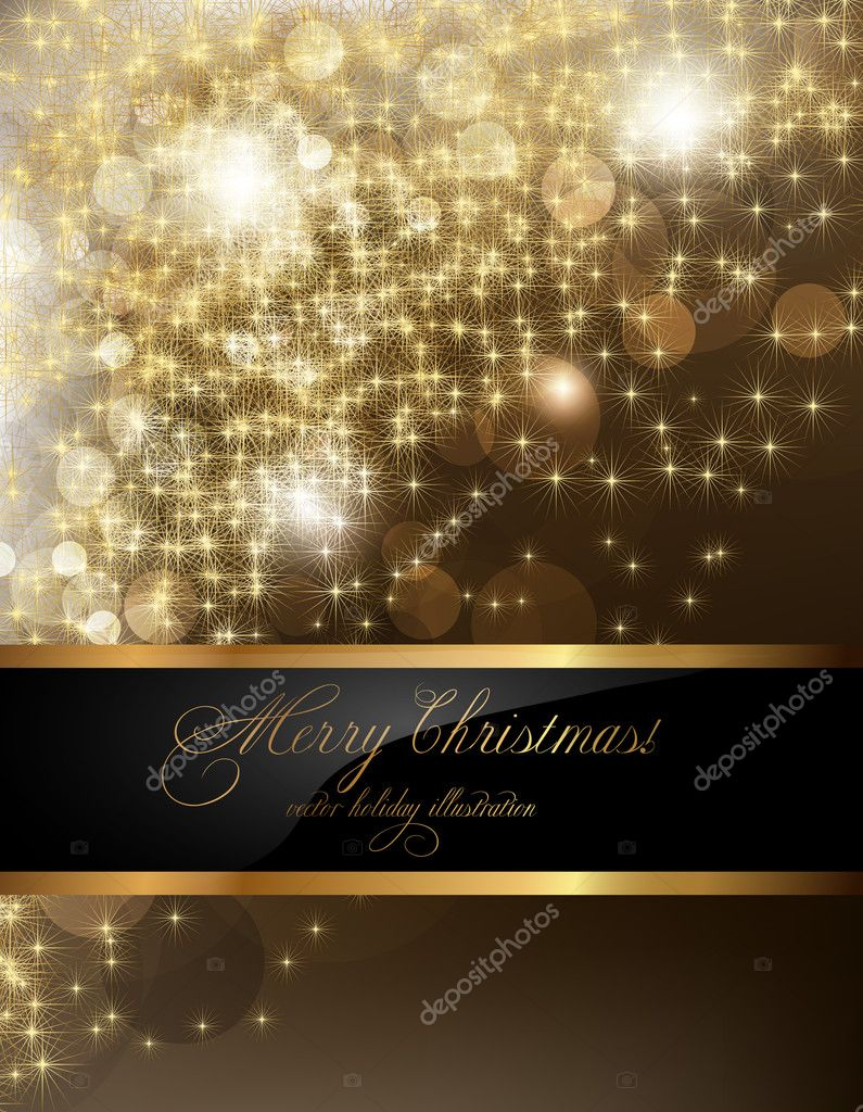 Elegant christmas background with place for new year text ...