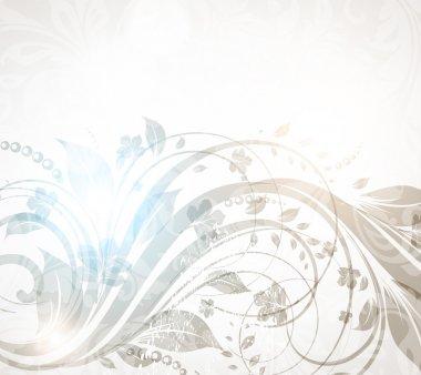 Vector vintage floral background for retro design