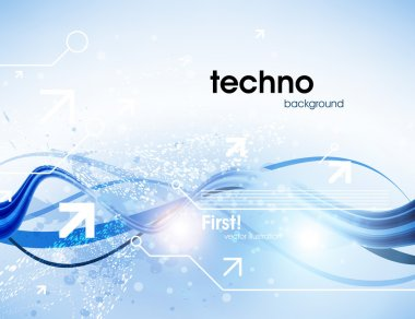 Technology web background stock vector