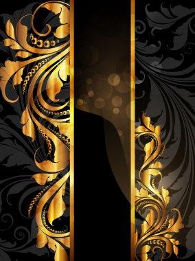 Summer white, black golden banner