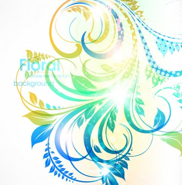 Abstract floral summer background