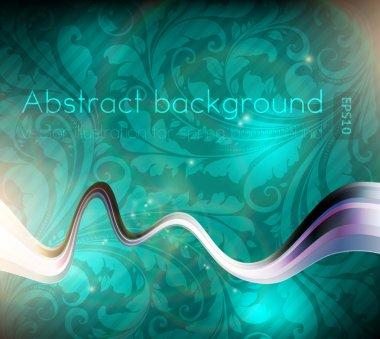 Vector line abstraction design against aqua background