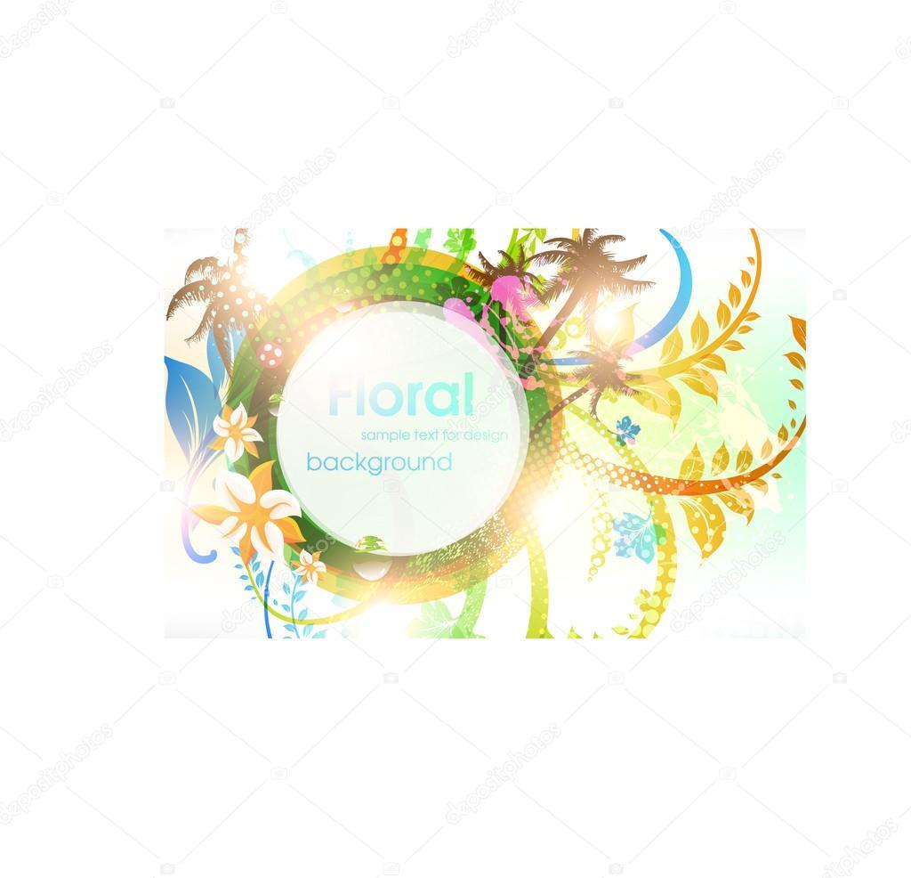 negocios colorida tarjeta de primavera o verano plantilla diseño ...