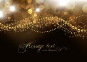 Fotografia elegante sfondo di Natale con posto per invito di Capodanno testo