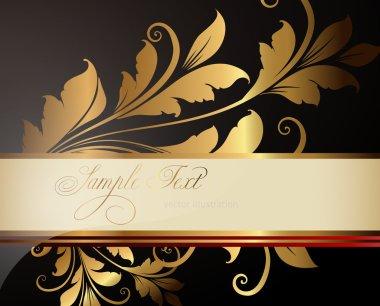 Summer black, white golden banner
