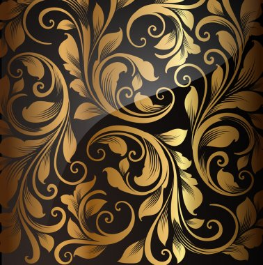 Seamless wallpaper pattern gold, vector