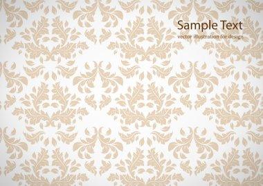 Seamless white Damask wallpaper
