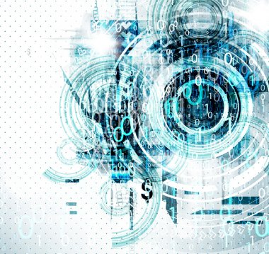 Digital background for techno design.