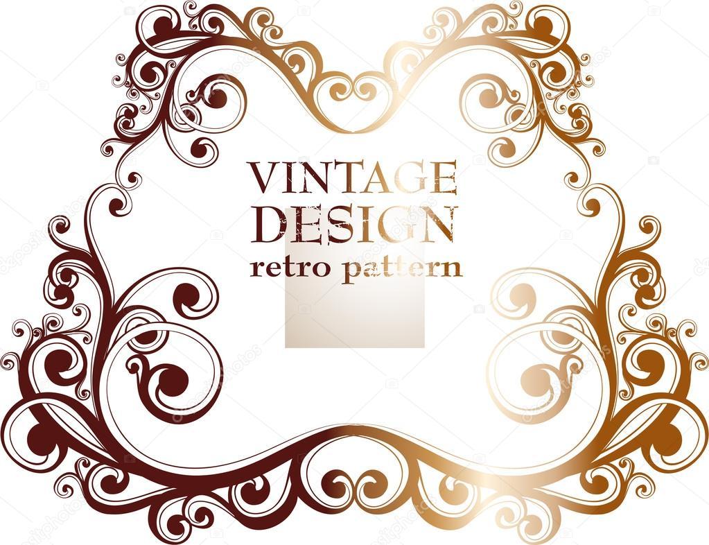 conjunto de vectores vintage adornado marcos de diseño retro ...