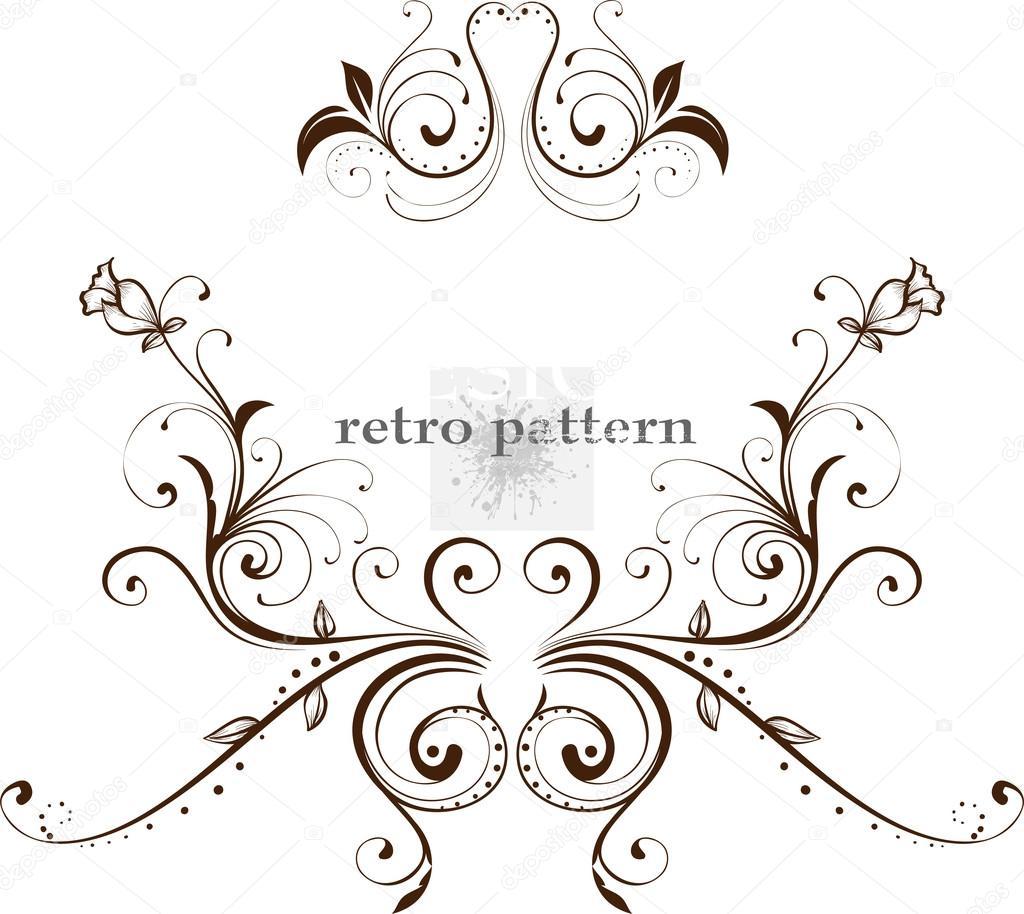 plantilla de diseño vintage. Marcos Retro, adornos — Vector de stock ...