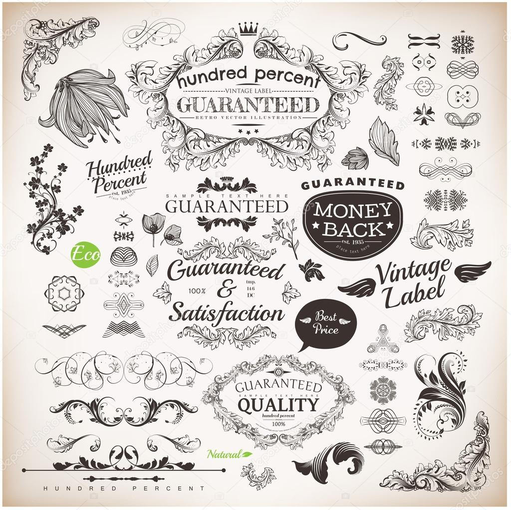 Vector Set Calligraphic Design Elements And Page Decoration Premium Quality Seafarers Satisfaction