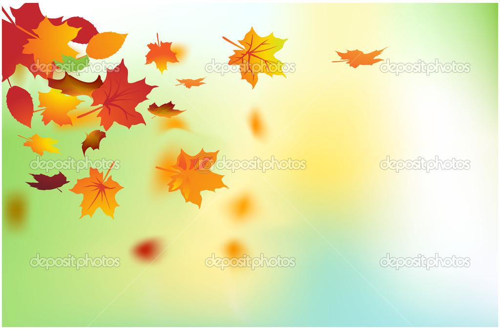 Hojas de fondo oto o oto o cayendo vector de stock - Descargar autumn leaves ...