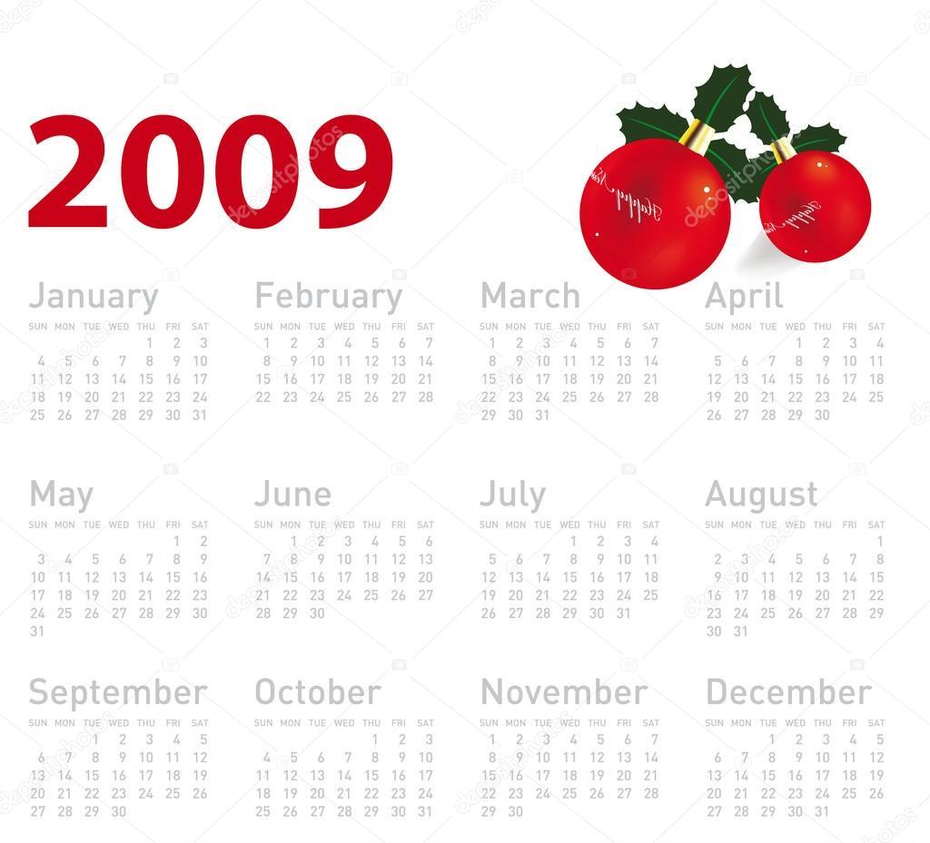 2009 március naptár 2009. évi naptár — Stock Vektor © Ozerina #16992641 2009 március naptár