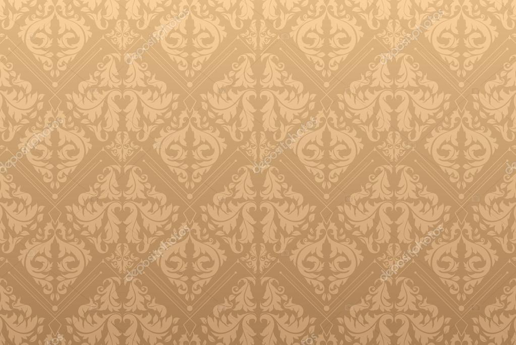 Elegant damask background with classical wallpaper pattern ...