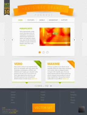 Abstract web site template design, vector eps10 Abstract orange blur background