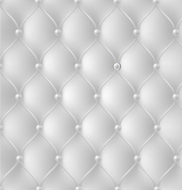 Button-tufted leather background. Vector illustration.