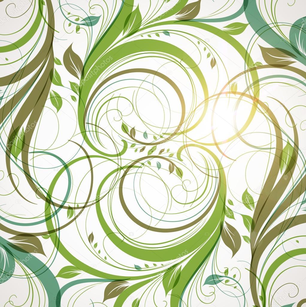 nahtlose tapete mit floralen ornament mit bl tter und. Black Bedroom Furniture Sets. Home Design Ideas