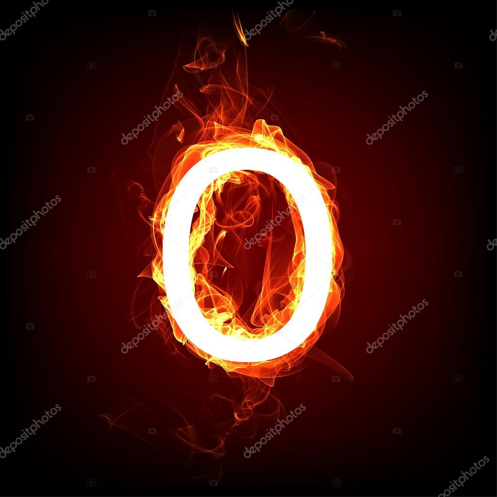 Fiery font for hot flame design letter o stock photo ozerina letter o stock photo buycottarizona