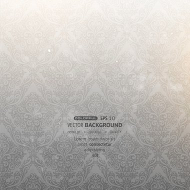 Elegant damask background with classical wallpaper pattern