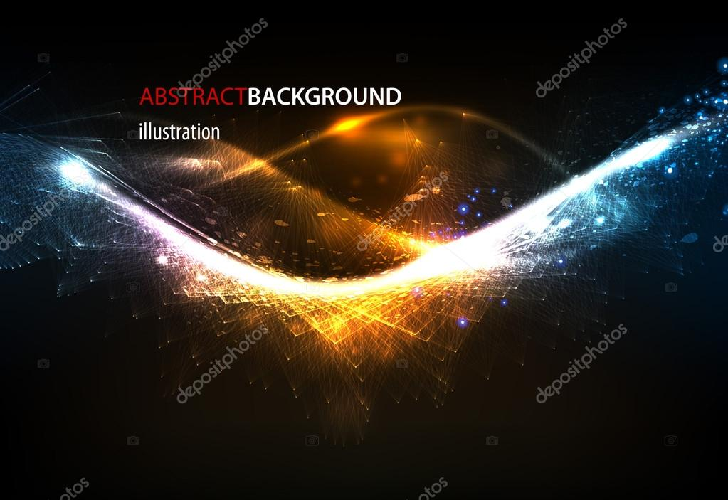 Abstract glow techno background