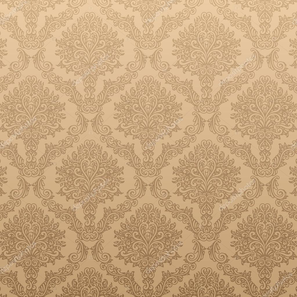 elegante do damasco fundo com o padrão clássico do papel ...