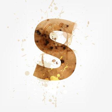 Vector Grunge Alphabet, S