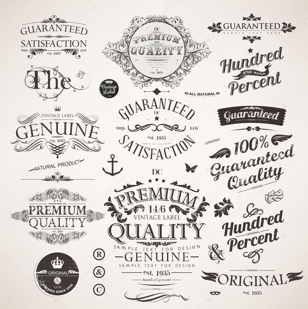Vector set elementos de diseño caligráfico, flores y Marcos retro ...