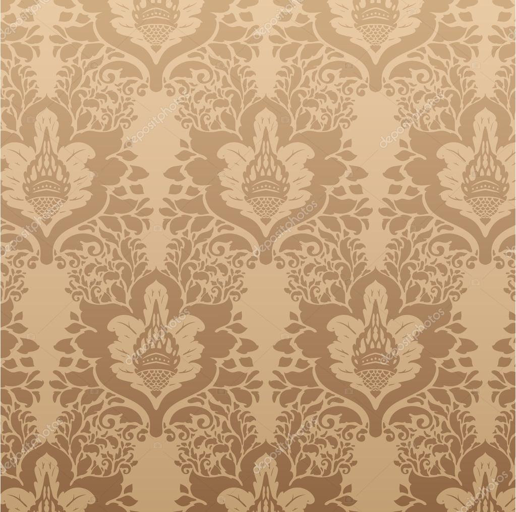 Elegant Damask Background With Classical Wallpaper Pattern Slightly