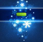 Abstraktní vánoční přání s bílé sněhové vločky a světla