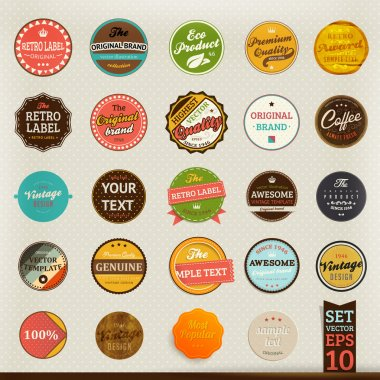 Premium and High Quality retro Labels collection Vintage design Big set