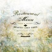 Restaurace menu design