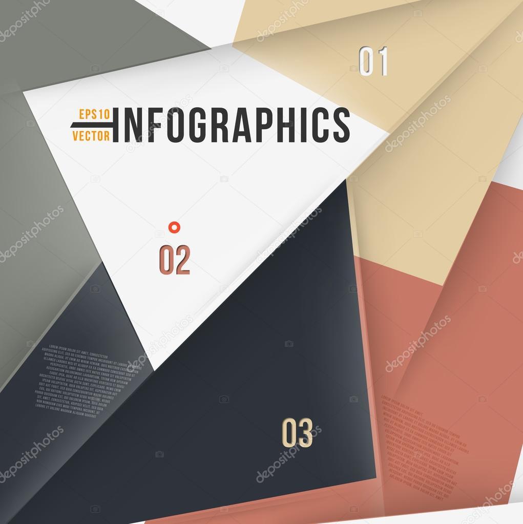 moderne abstrakte Banner design für Infografiken, Business-Design ...