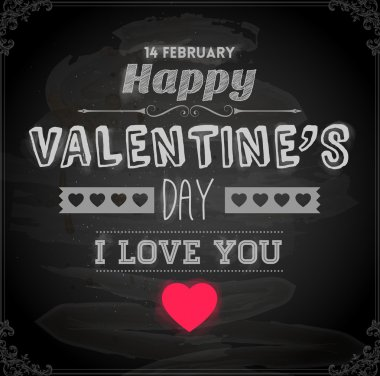 Happy Valentines Day Card Design. 14 February