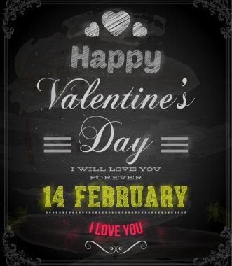 Happy Valentines Day Card Design.