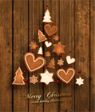 Hanging Gingerbread Christmas Cookies