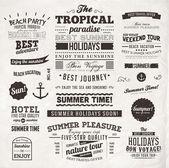 Fotografie Retro elements for Summer calligraphic designs