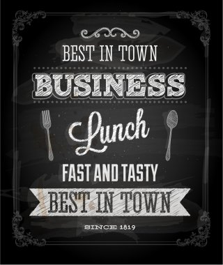 Chalkboard Business Lunch Poster