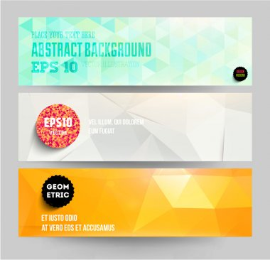 Banners set for business modern background design