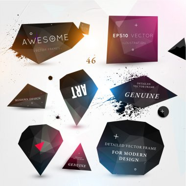 Labels vector set, modern style.