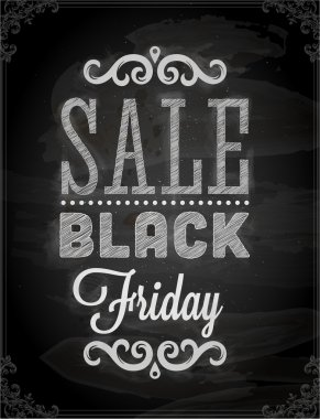 Black Friday Calligraphic Chalkboard Design
